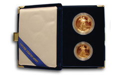 2 Piece 1.5 oz. Proof American Gold Eagle Set